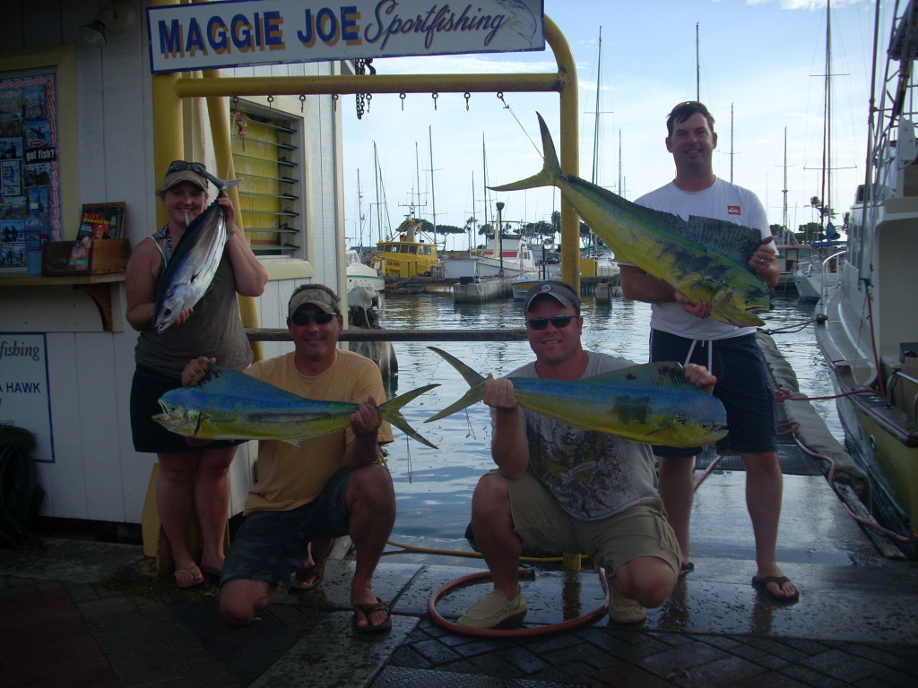 3 Mahi Mahi and 1 Aku