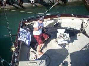 1245 lb Pacific Blue Marlin on Maggie Joe back deck