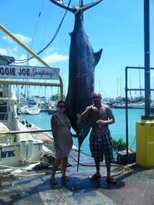 Tony with 606 lb Blue Marlin
