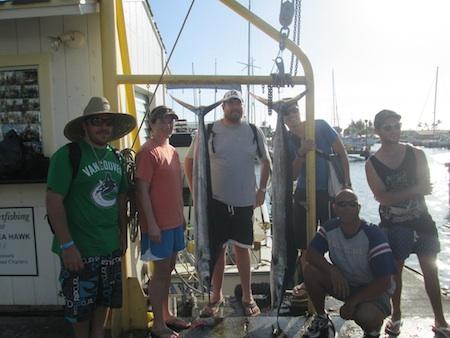 Jeff, Aaron, Justin, Katherine and Jason with Captain Darryl!