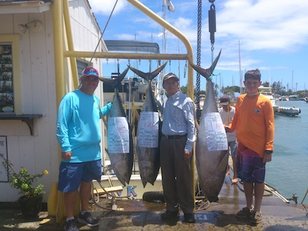 Bill, William and Peter with 3 Ahi!