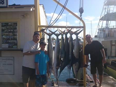 Barry, Landon and Jonathon with their haul!
