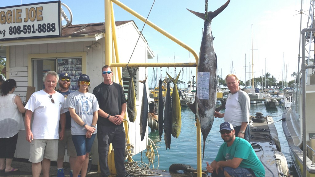 Capt mate mate chip  George Williams and family 3 mahi 2 ono 1 marlin #205