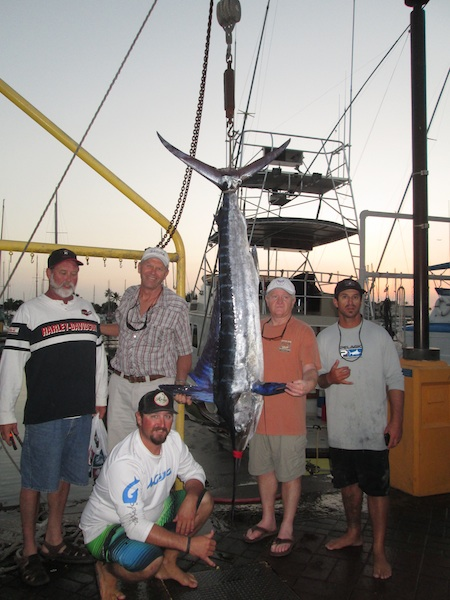 Dave, Rich, Dan and Larry with 93 lb Striped Marlin