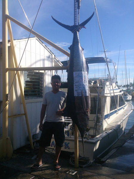 Jack with 210 lb Blue Marlin