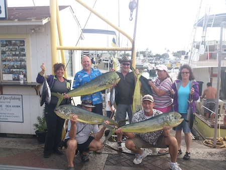 Lani, Sheryl, Bob, Ted, Laureen, Derek and Robin with their catch!