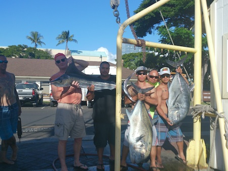 Matt, Dan, Jeremy, Granden and Ky with their catch!