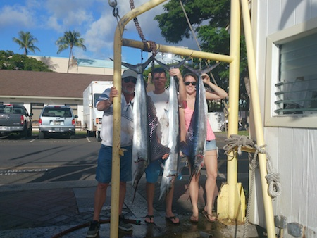 Nicole, Davin and Raymand with 3 Spearfish!