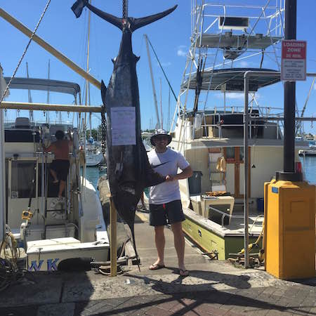Daniel with his Blue Marlin