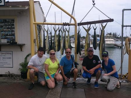 Phil, Sarah, Tim, Wayne and Karen with their catch!
