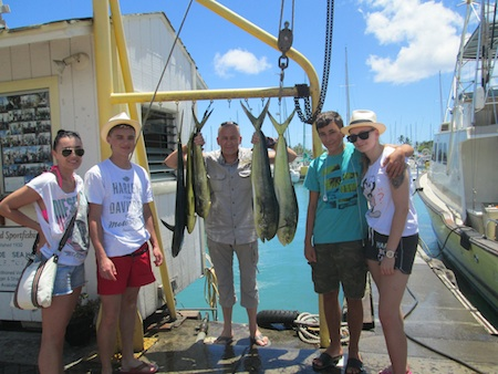 The Balinski with their catch