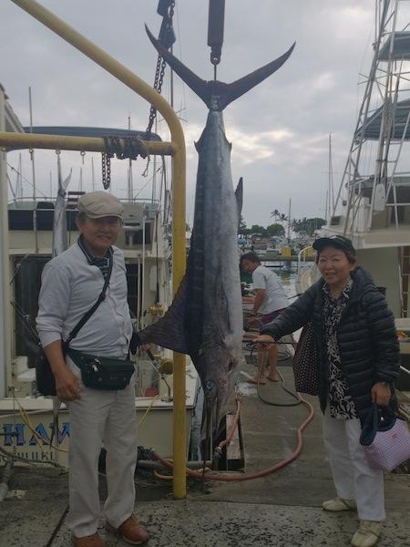 Tadashi with 70 lb Striped Marlin