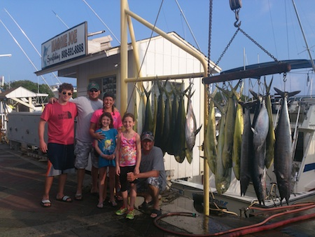 Tim, Danielle, Troy, Nick, Rilee and Raegen with their catch!