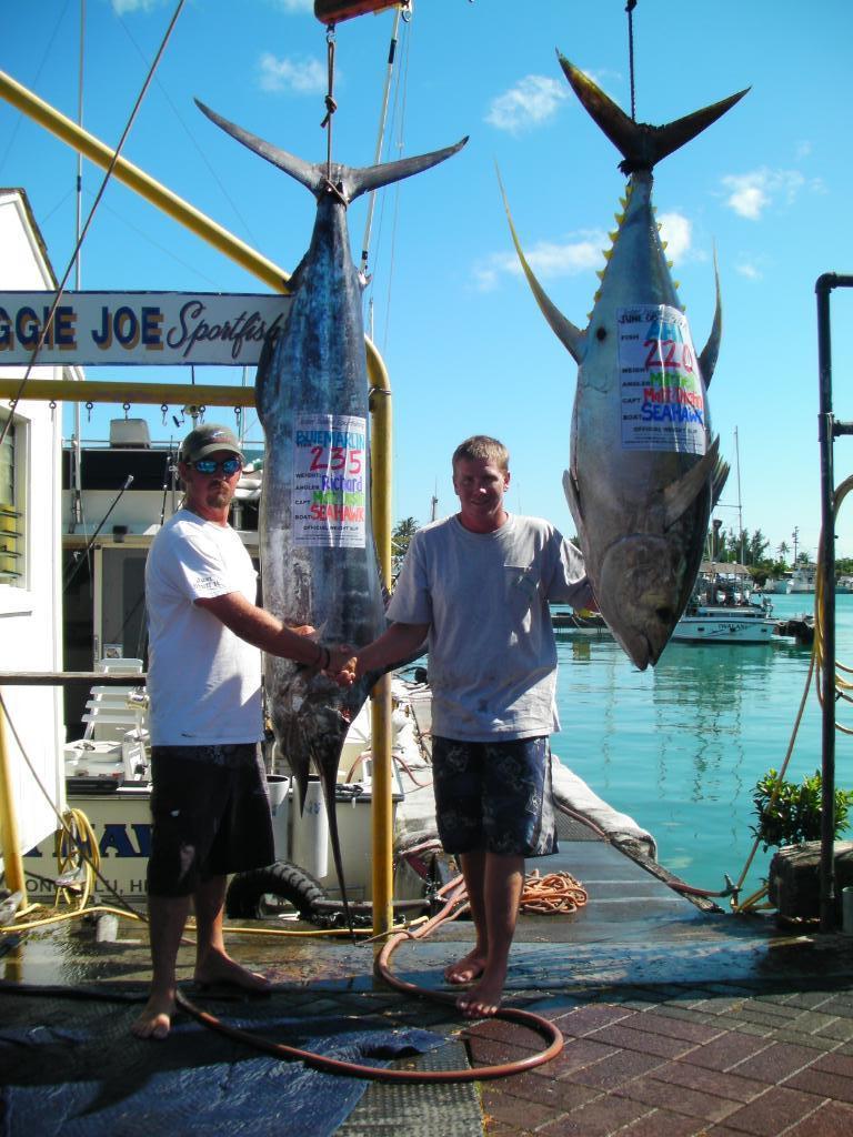 235 lb Marlin and 220 lb Ahi