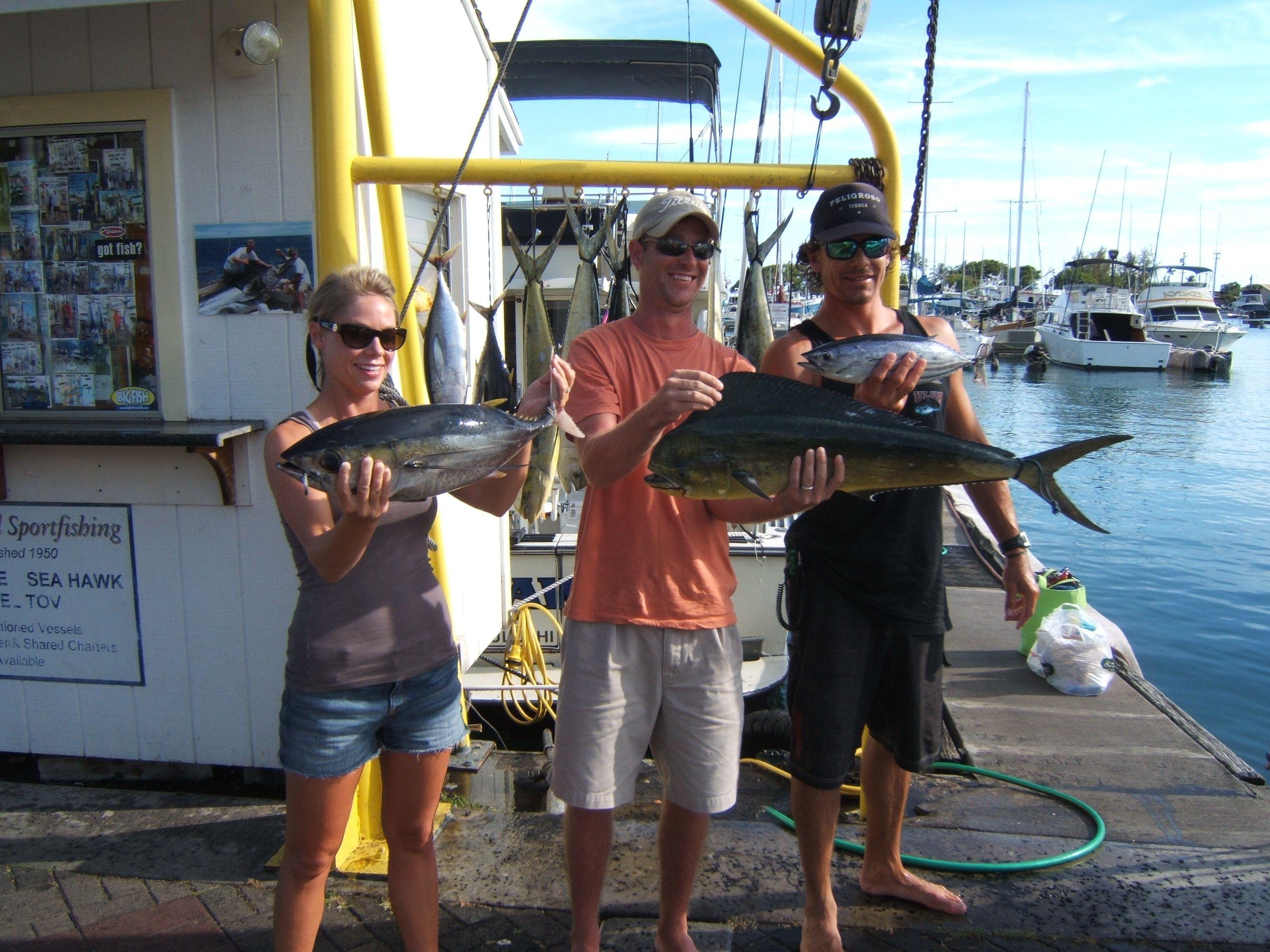 Aku maggie joe sport fishing oahu deep sea fishing for Fishing charters oahu