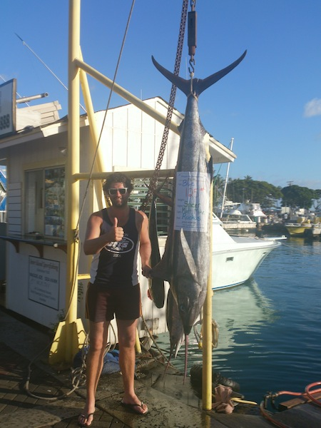 Spicer with 125 lb Blue Marlin!