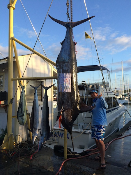 Akira with 425 lb Blue Marlin!