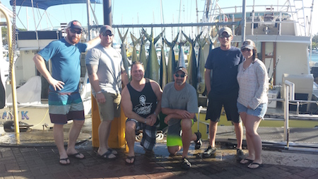 Dallas, Matt and Friends with 23 Mahi Mahi and 1 Ono