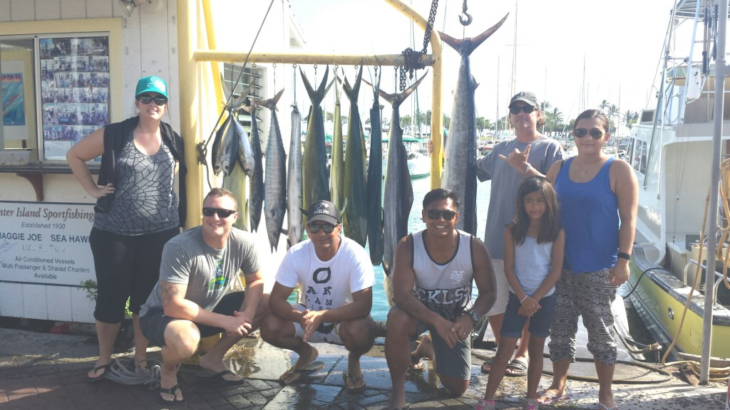 2 Spearfish, 6 Mahi Mahi, 2 Ono and 3 Tuna!