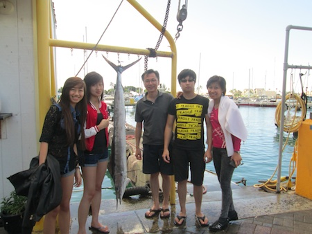 Cheng Ao and Family with their Short Billed Spearfish!