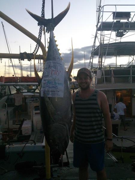 Chris with 170 lb Ahi!