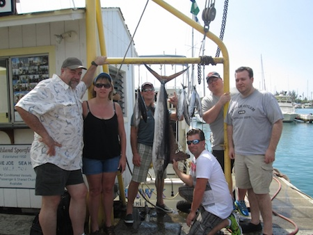 Jeff, Ryan, Craig, Dave, Lisa and Chris with their catch!