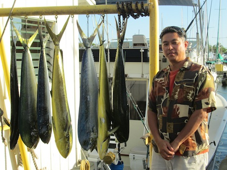 Kim with his 8 Mahi Mahi!