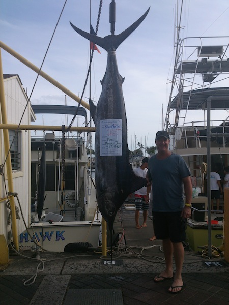Martin with 265 lb Blue Marlin!