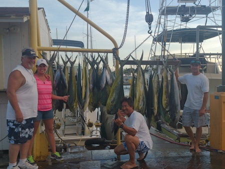 Randy and Leilani with 25 Mahi Mahi