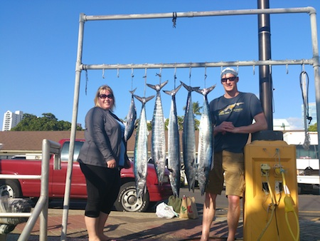 Sarah and Brandon with their catch!