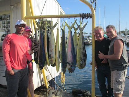 Shared Charter Maggie Joe. Captain- Kevin, Mate- Morgan. 14 Mahi Mahi