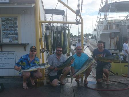 Shares on Sea Hawk with Capt morgan and chip 16 mahi  Aug 12