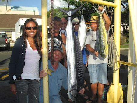 The Van Den Dorpel family with their catch!