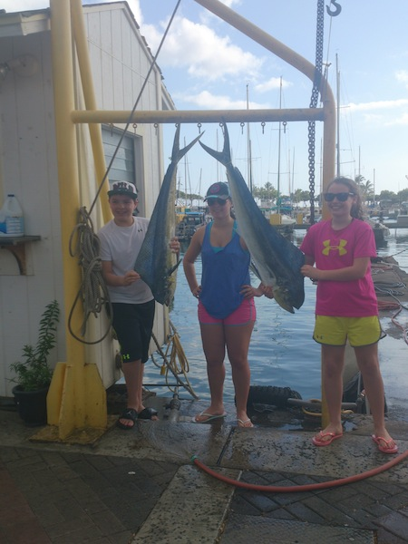 Zach, Gillian and Allison with their catch!