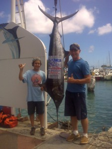 John Shreve with 1st Marlin