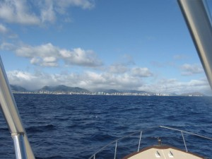 Honolulu From the Boat