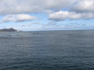 Surfers Outside of Harbor