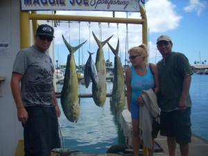 3 Mahi Mahi and 2 Aku