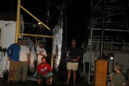 Angler's Justin and Jeff with Captain Matt and Morgan